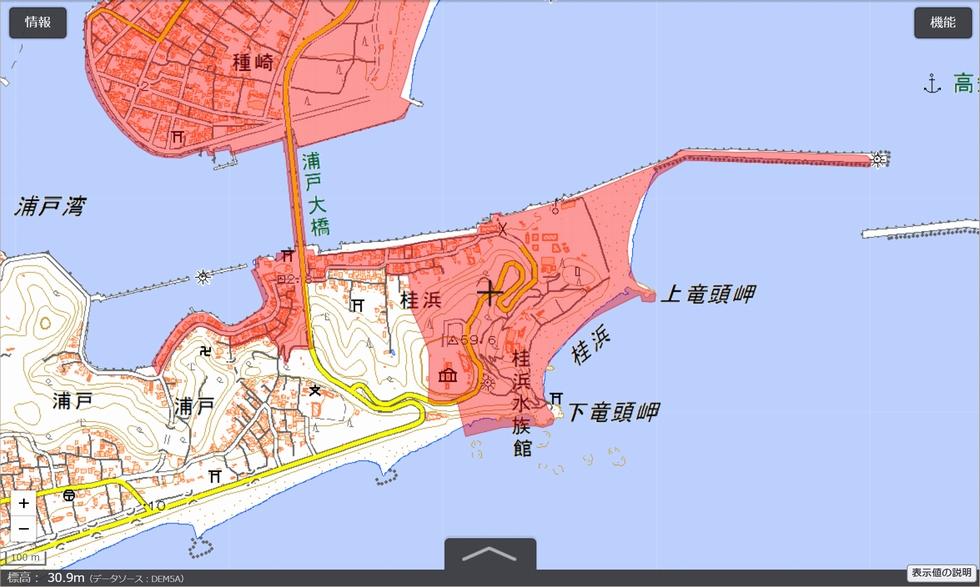 桂浜周辺のドローン禁止エリア