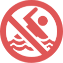 桂浜は遊泳禁止