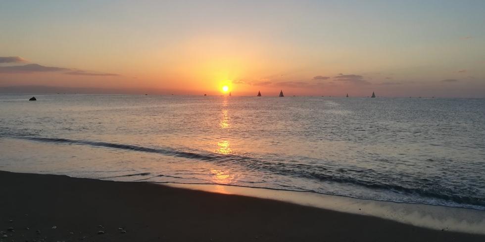 桂浜で初日の出(2018年 元旦)