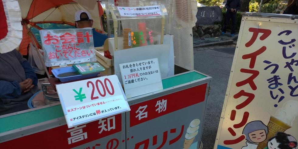 桂浜でアイスクリンを食べよう(5)
