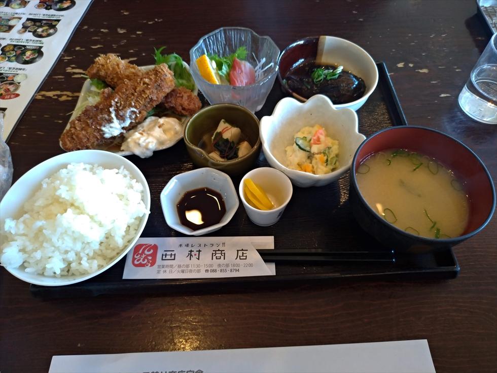 市場レストラン 西村商店(本日の日替り商店定食)