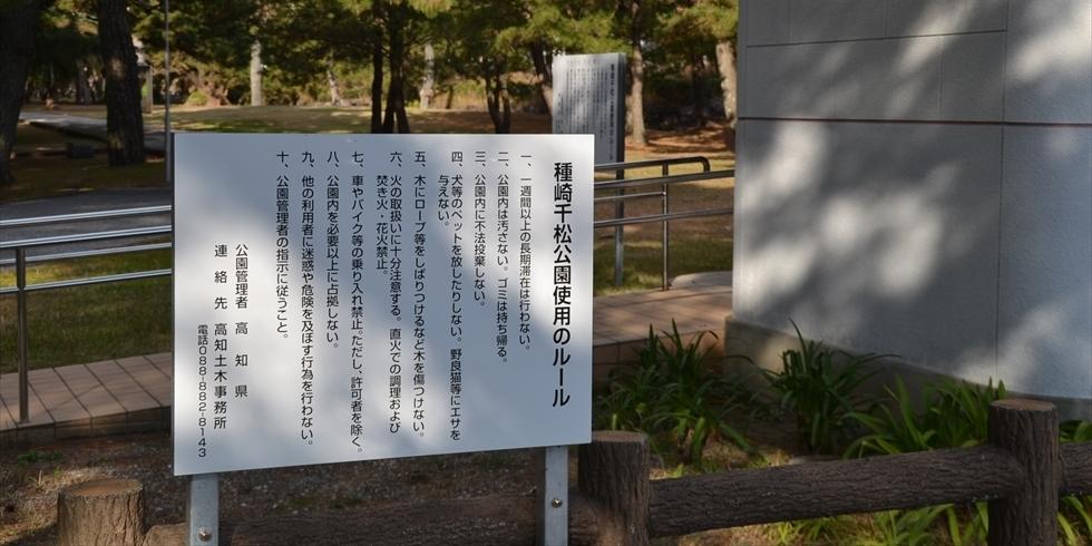 桂浜 種崎千松公園でキャンプする場合の注意事項