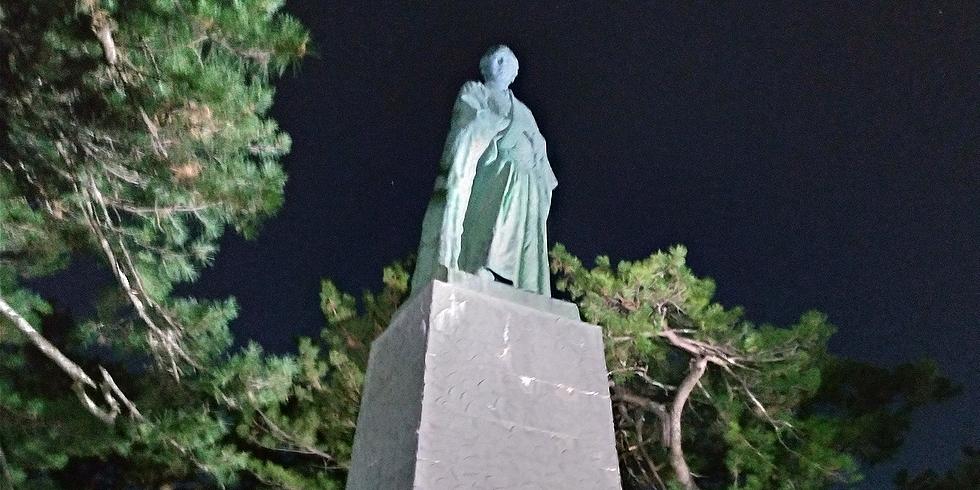 桂浜の夜の電灯