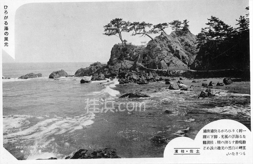 昔の桂浜 (竜王岬を望む3)