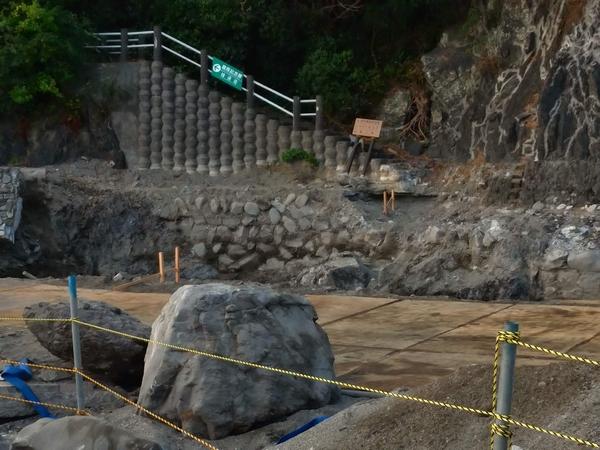 昔の桂浜 (桂浜の遊歩道の工事1)