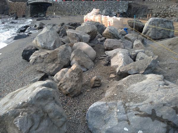 昔の桂浜 (桂浜の遊歩道の工事2)