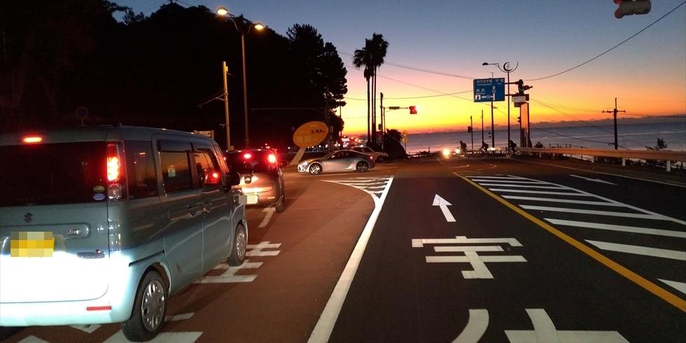 元旦早朝の桂浜の渋滞や駐車場の空き情報(7)