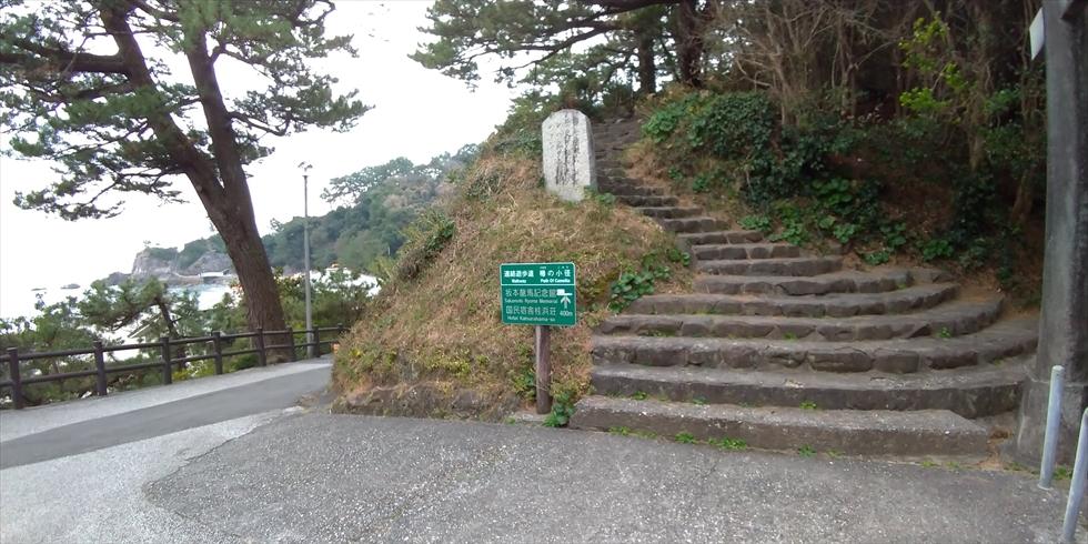 桂浜の椿の小径(登り口(1))