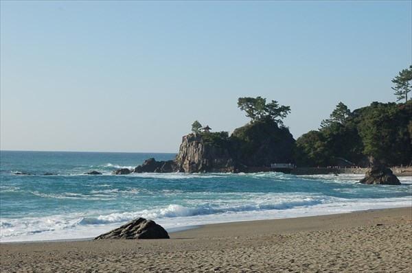 名勝 桂浜 (月と竜馬と桂浜)