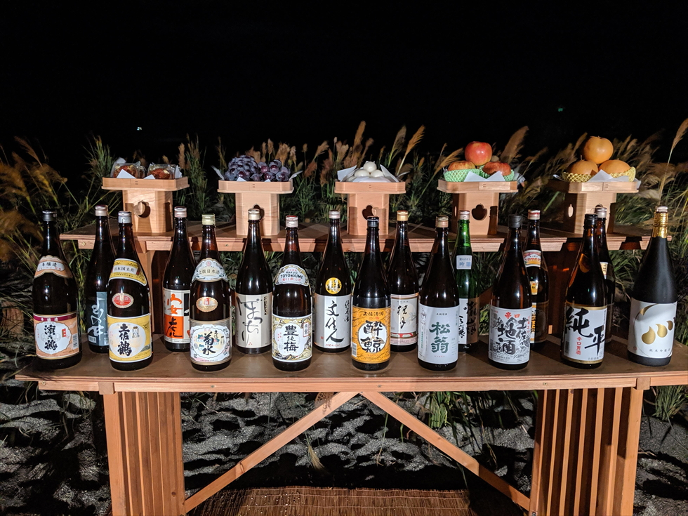 桂浜 観月会 (2019年中秋の名月)土佐の地酒