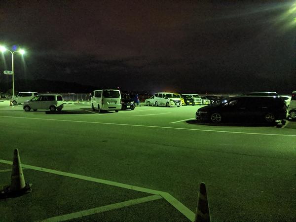 桂浜 観月会 (2019年中秋の名月)駐車場の空き状況