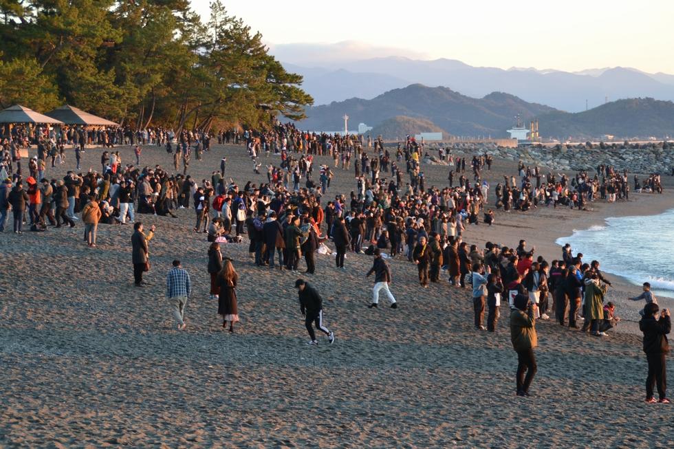 2020年元旦 桂浜で初日の出(10)