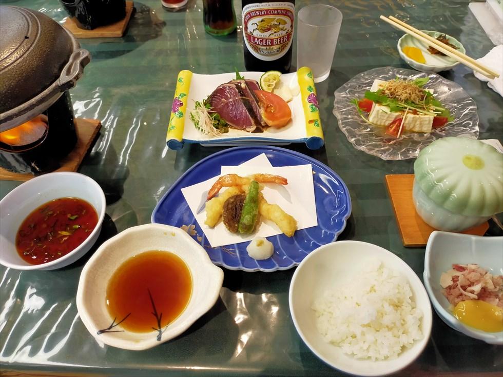 国民宿舎 桂浜荘の宿泊記(夕食)